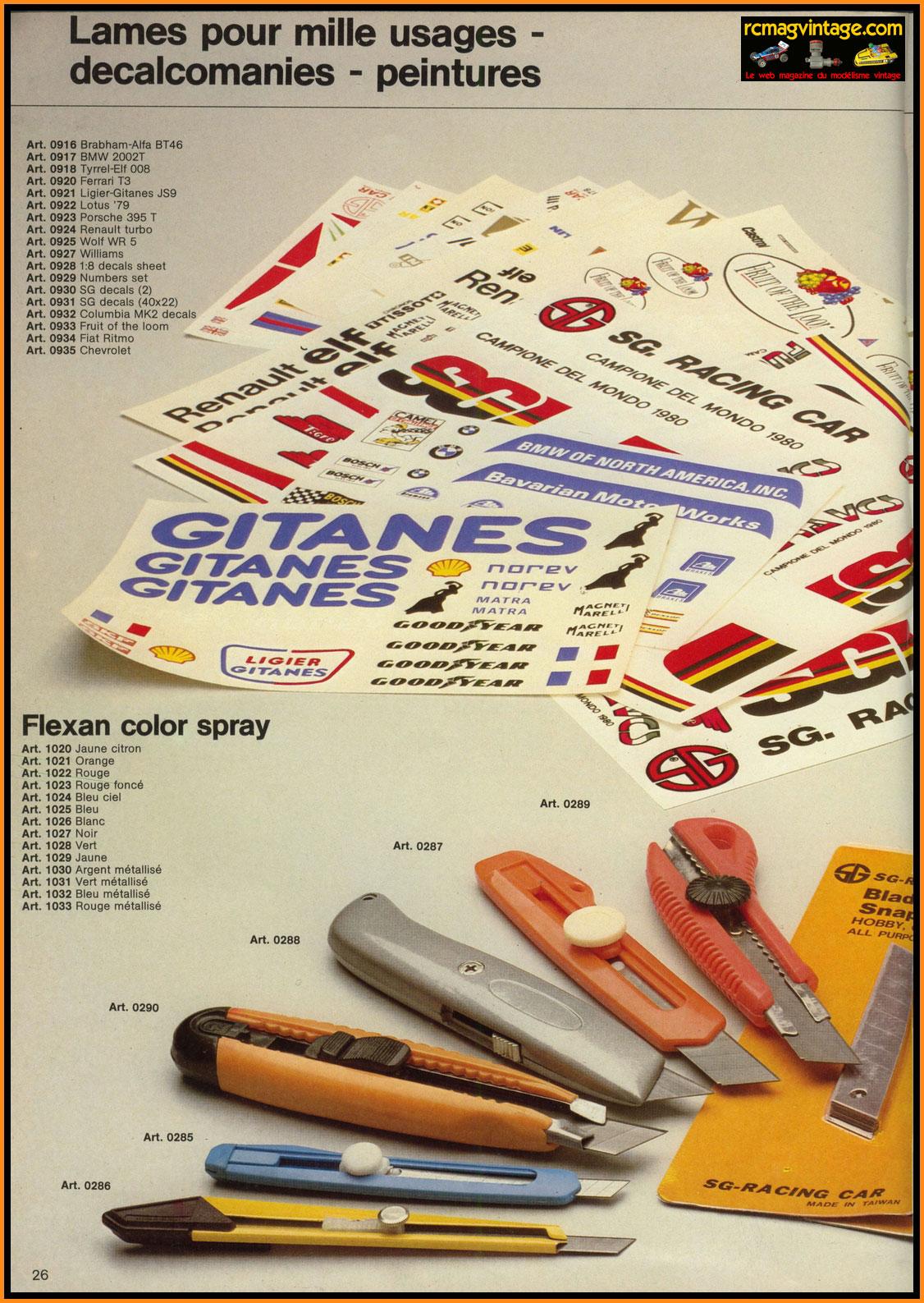 catalogue sg racing car 1984 fran ais. Black Bedroom Furniture Sets. Home Design Ideas